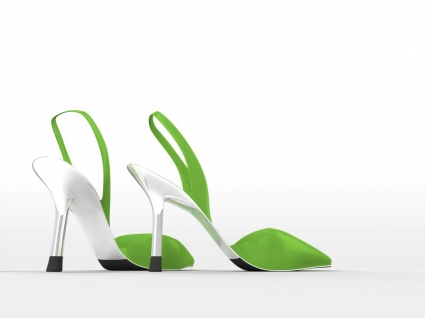 Green Shoes Wallpaper Abstract 3D