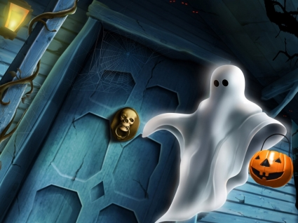 Halloween Ghost Wallpaper Halloween Holidays