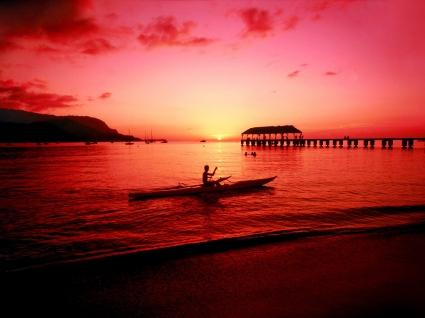 Hanalei Kayaker Hawaii