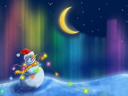 Happy Snowman Wallpaper Christmas Holidays
