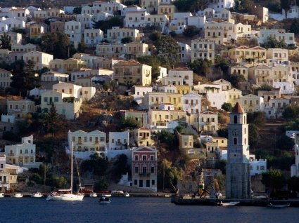 Harbor Town of Yialos Wallpaper Greece World