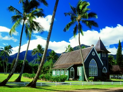 Hawaii Church Wallpaper United States World