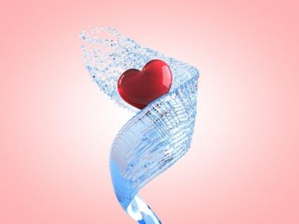 Heart Wallpaper Abstract 3D