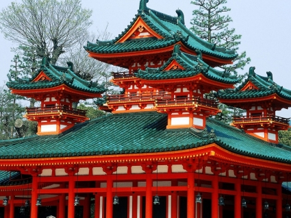 Heian Shrine Kyoto Japan Wallpaper Japan World