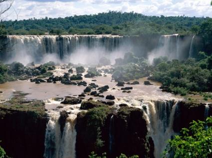 Iguassu Falls Brazil Wallpaper Waterfalls Nature
