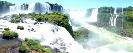 Iguassu Falls Panorama Dual Monitor