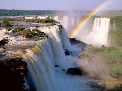 Iguassu Falls Wallpaper Waterfalls Nature
