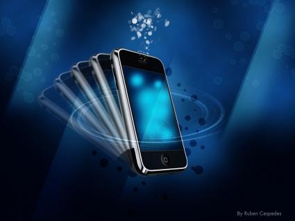 iPhone in Blue