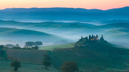 Italy Morning Sunrise Landscape