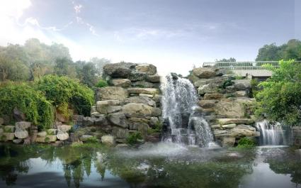Japan Digital Waterfall