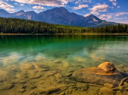 Jasper Lake Wallpaper Landscape Nature