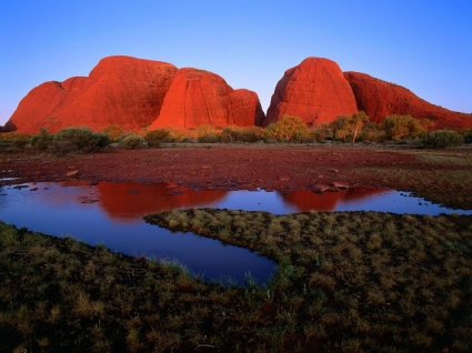 Kata Tjuta at Sunset Wallpaper Australia World