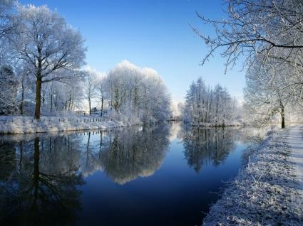 Kromme Rijn Wallpaper Winter Nature