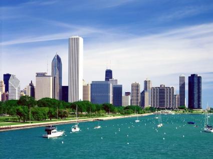 Lake Michigan Chicago Skyline