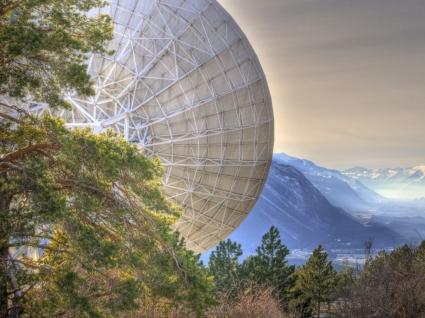 Leuk satellite dish Wallpaper Switzerland World