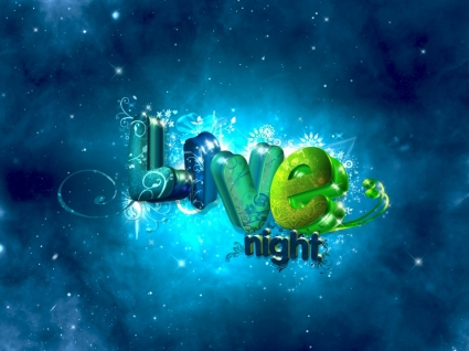 Live Night Wallpaper Abstract 3D