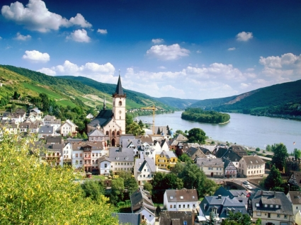Lorch Village Wallpaper Germany World