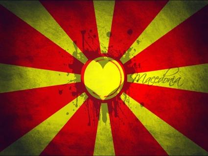 Macedonian love flag Wallpaper Macedonia World