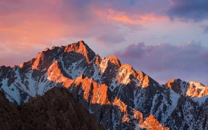 macOS Sierra Stock Mountains 4K