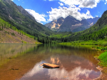 Maroon Lake Wallpaper Landscape Nature
