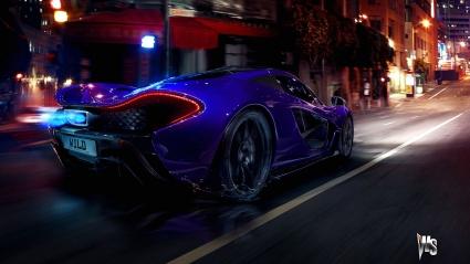 McLaren P1 in Blue