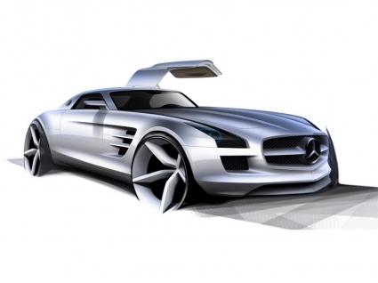 Mercedes Benz SLS AMG Wallpaper Concept Cars