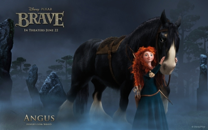 Merida & Angus in Brave