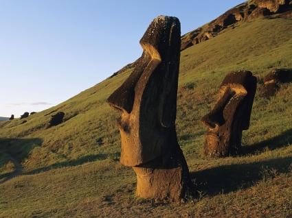 Moai Statues Wallpaper Chile World