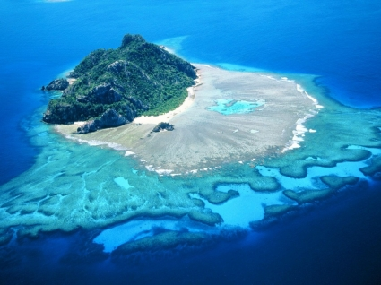 Monuriki Island Wallpaper Fiji Islands World