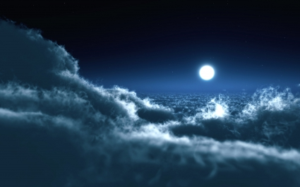 Moon Over Clouds