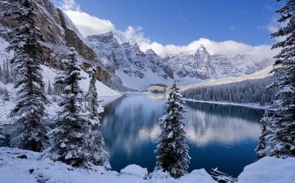 Moraine Lake in Winter Canada