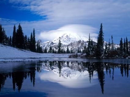 Mount Rainier Reflected Tipsoo Lake