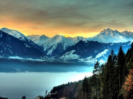 Mountain Bliss Wallpaper Landscape Nature