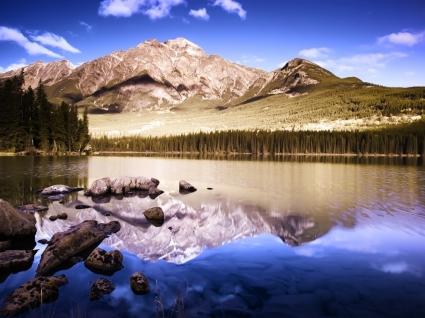 Mountain Paradise Wallpaper Landscape Nature