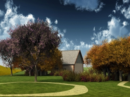 My dream house Wallpaper Miscellaneous Other
