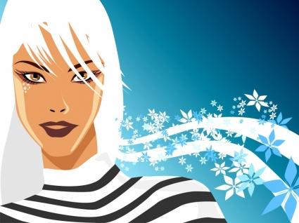 Mysterious Vector Girl Wallpaper Vector 3D