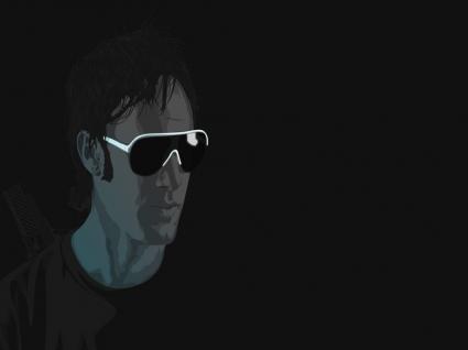 Mysterious Vector Man Wallpaper Vector 3D