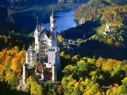 Neuschwanstein Castle Bavaria Wallpaper Germany World