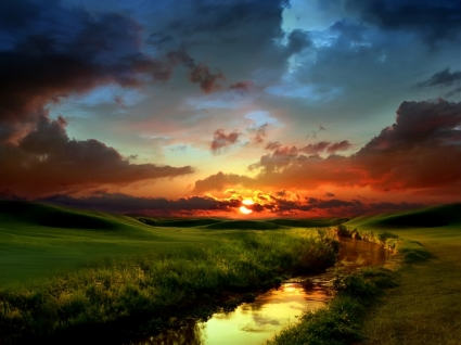 No Line on the Horizon Wallpaper Photo Manipulated Nature