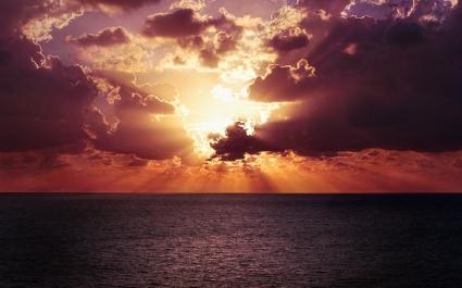 Ocean Horizon Sunset