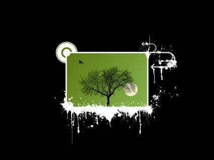 Olive tree Wallpaper Vector 3D