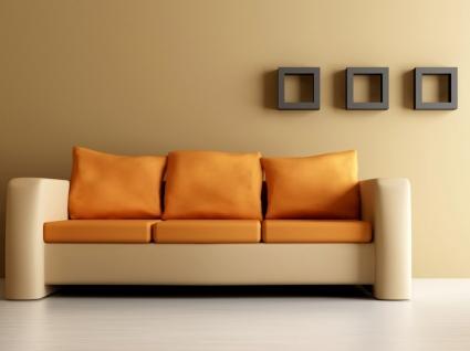 Orange Couch Wallpaper Interior Design Other