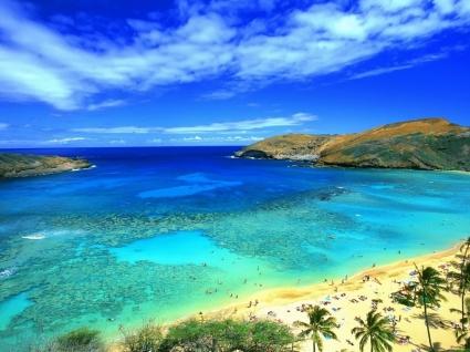 Paradise Lagoon Wallpaper Beaches Nature