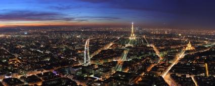 Paris at Night Dual Monitor