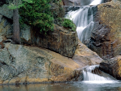 Peaceful Waters Wallpaper Waterfalls Nature