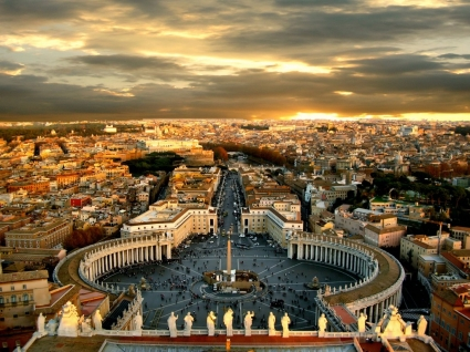 Piazza San Pietro Wallpaper Italy World