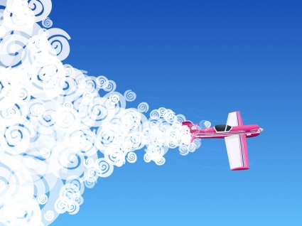 Pink Plane Wallpaper Abstract 3D