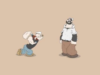 Popeye versus Pluto Wallpaper Cartoons Anime Animated