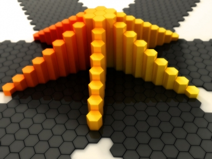 Pyramid of Fire Wallpaper Abstract 3D