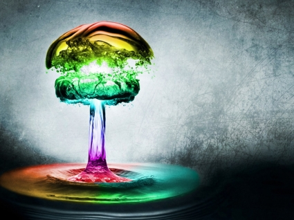 Rainbow Drip Wallpaper Abstract Other
